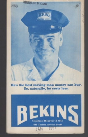 Retro Bekins Flyer