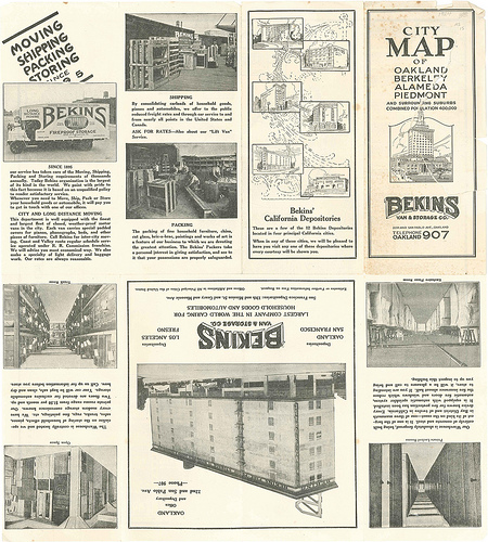 Retro - Bekins Oakland City Map
