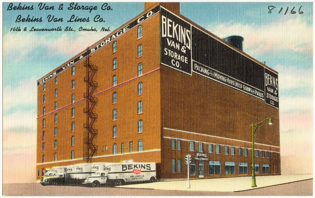 Retro - Bekins Van and Storage Co., 16th and Leavenworth Omaha