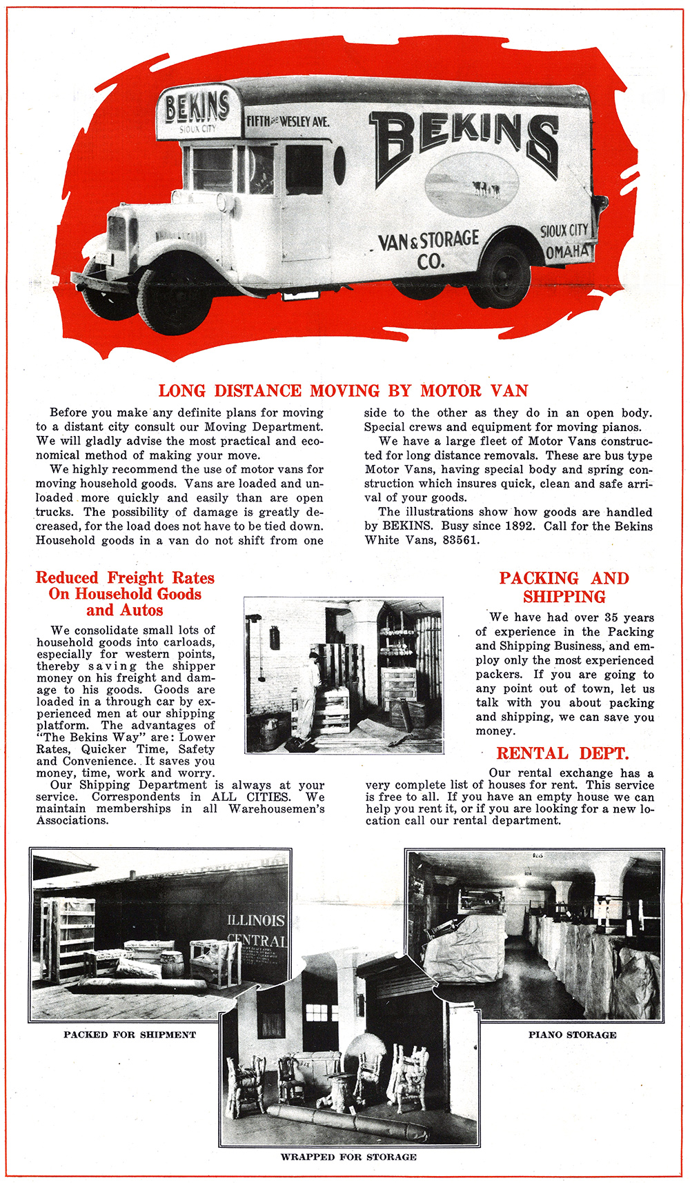 Retro - Bekins Long Distance Moving Van