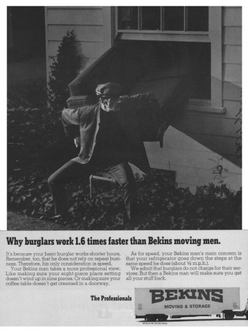 Retro - Why burglars work 1.6 times faster than Bekins moving men