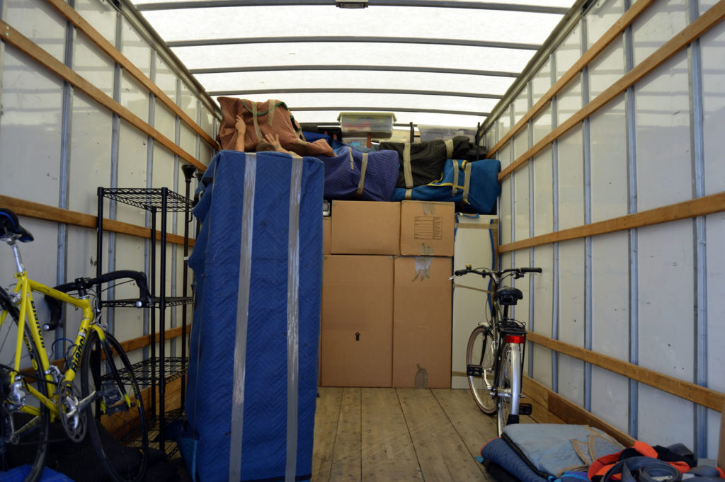 Moving truck packing example
