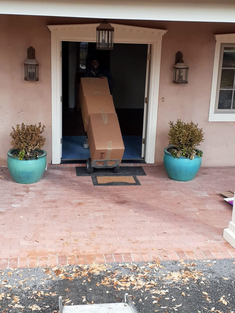 Front Entry and Moving Boxes