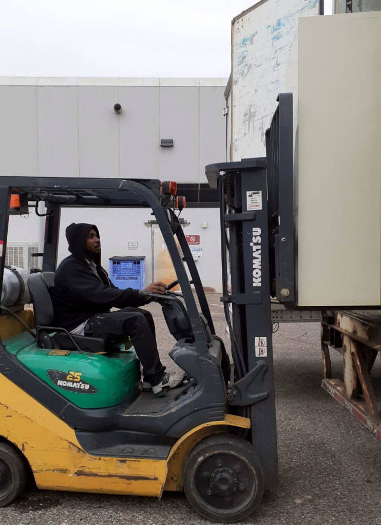ProRelo Move requiring a forklift