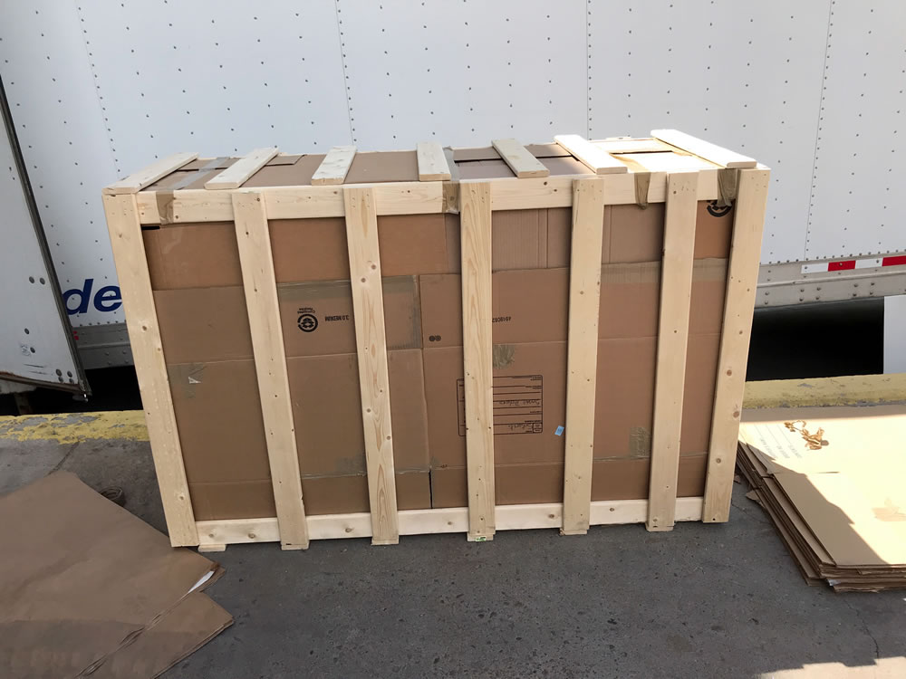 Motorcycle Crate Packing Job