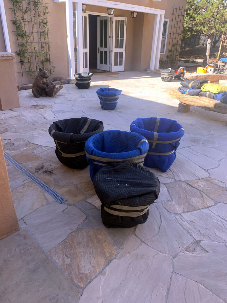 Padding Pots for Patio Move