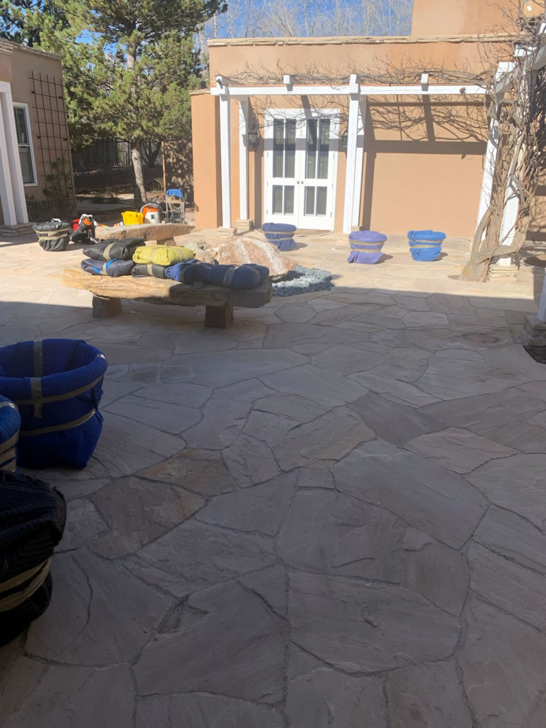 Patio and Planter Move
