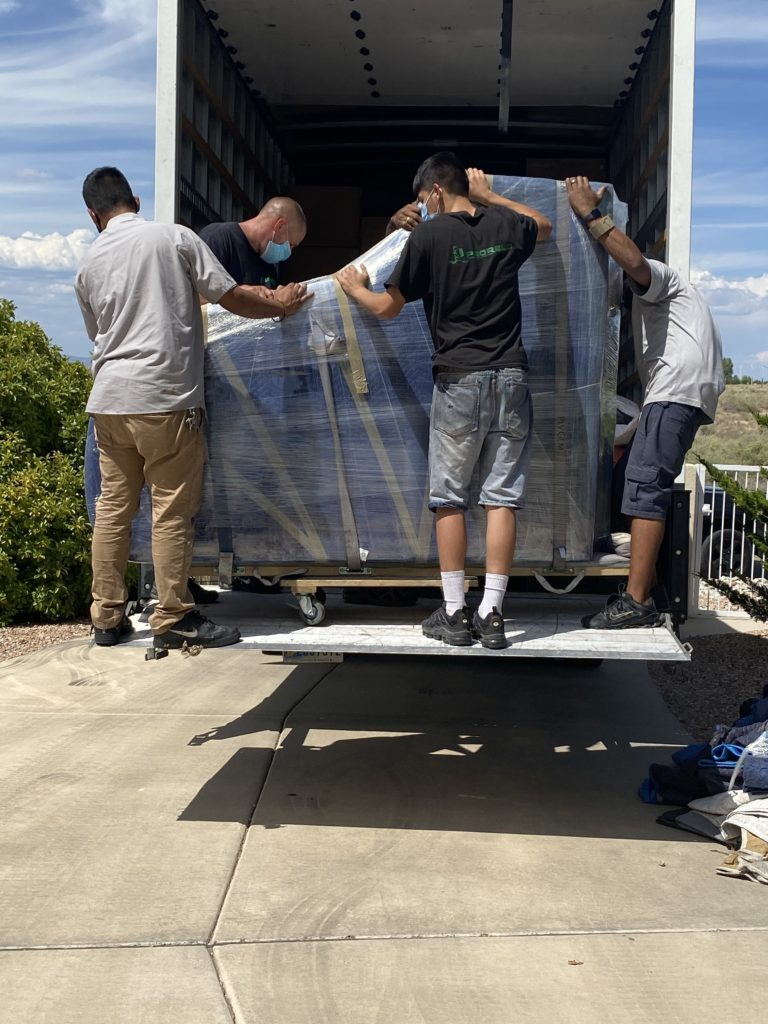 Moving grand piano safely