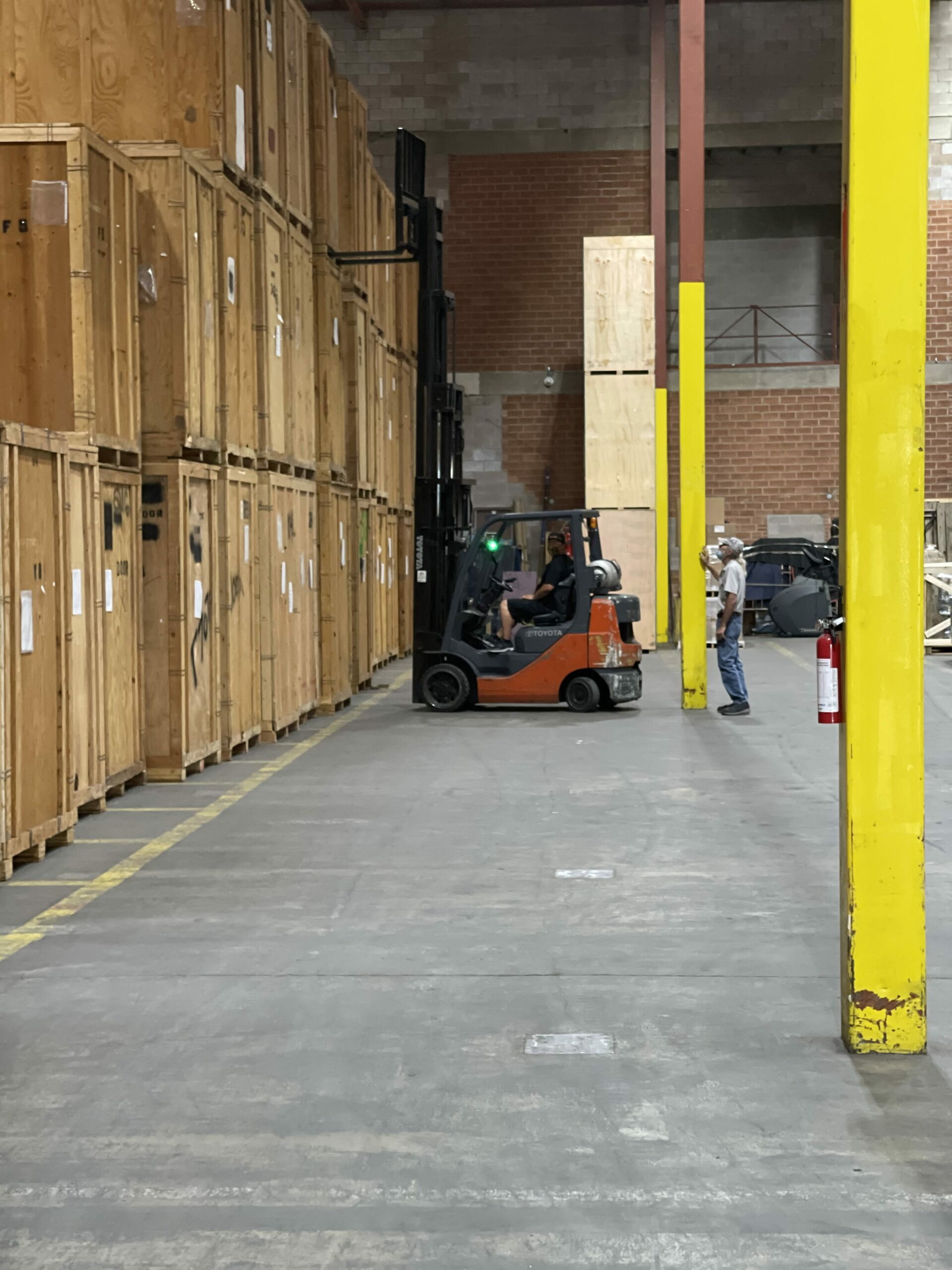 Safely preparing storage-in-transit containers