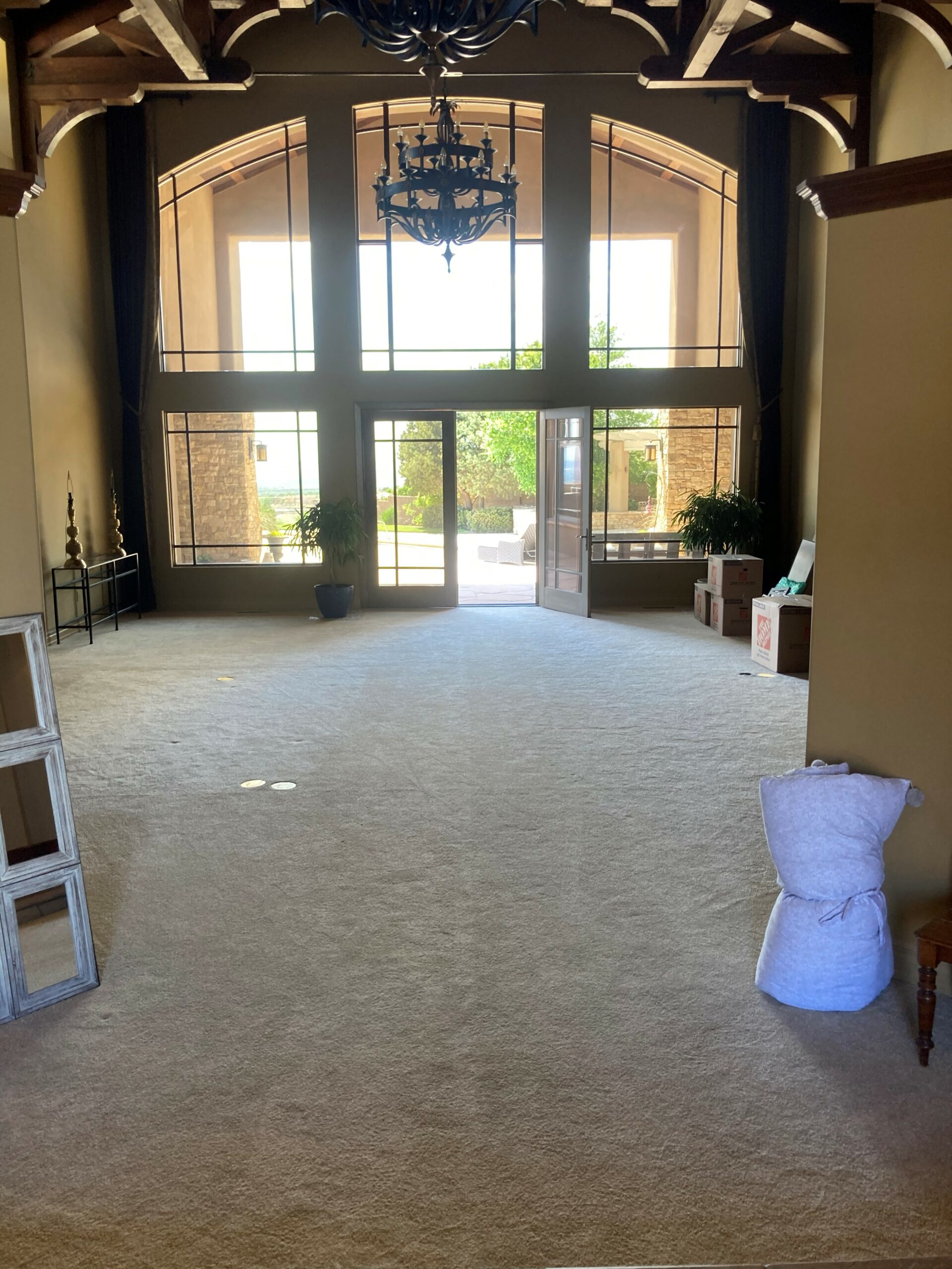 Unloading into New Home Foyer