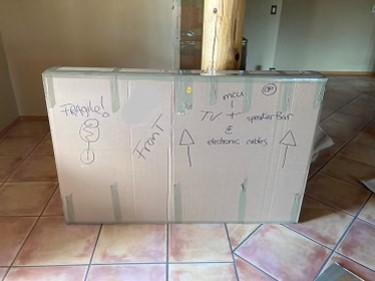 Custom Packed TV Box